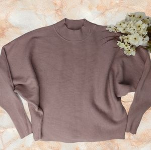 Active USA Mauve Knit Batwing Sleeve Sweater Large